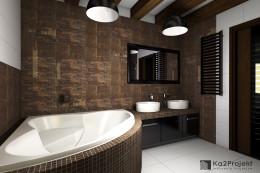 Nowoczesna łazienka w klimacie industrialnym