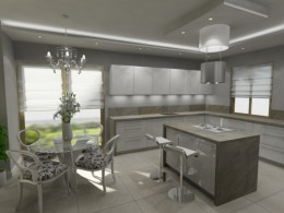 kuchnia i jadalnia glamour