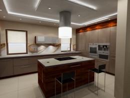 nowoczesna duża kuchnia