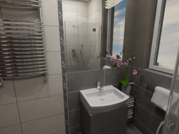 Mała Szara łazienka W Bloku Artur Pająk E Aranżacjepl