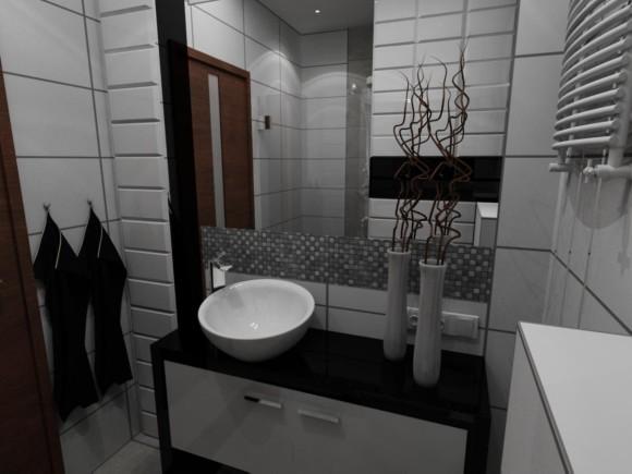 Biało Czarna łazienka Artur Pająk E Aranżacjepl