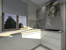 Projekt koncepcyjny kuchni w Domu Jednorodzinnym - Zawiercie