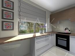 Projekt koncepcyjny kuchni w Zawierciu