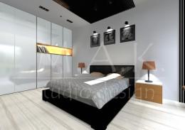 Projekt domu jednorodzinnego we Wrocławiu - sypialnia