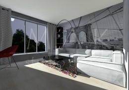 Projekt domu jednorodzinnego we Wrocławiu - pokój nastolatka