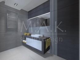 Projekt łazienki - Poręba