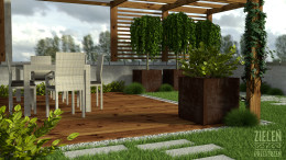 Projekt ogrodu na tarasie