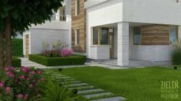 Projekt ogrodu przydomowego.