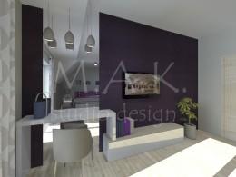 Projekt koncepcyjny sypialni - Góra Siewierska