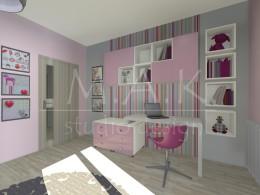 Projekt koncepcyjny pokój dla dziewczynki - Góra Siewierska