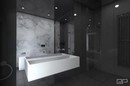 Łazienka - biały marmur