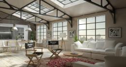 projekt wnętrz w stylu loft