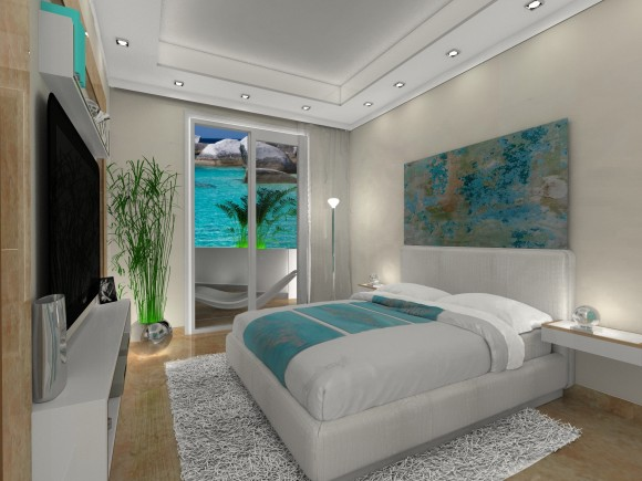 Sypialnia W Morskich Kolorach Tatiana Filus E Aranżacjepl