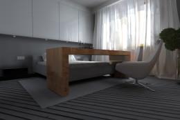Sypialnia biało-szara