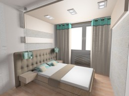 projekt sypialni przy ul Śląskiej w Jastrzębiu-Zdroju