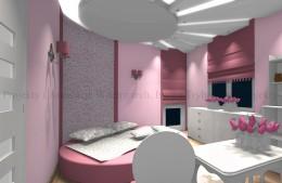 Rożowy pokój dla dziewczynki
