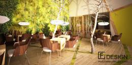 Sklep ogrodniczy z kawiarnią.