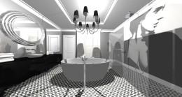 aranżacja łazienki / glamour