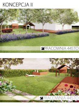Projekt ogrodu z basenem w wersji lawendowej
