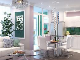 Apartamenty z ekskluzywnych żyrandoli