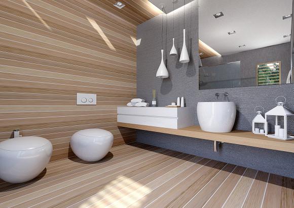 łazienka Beton Drewno Aleksandra Tybulczuk E Aranżacjepl