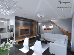 Apartament w czerni i bieli