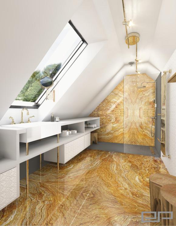 łazienka W Kamieniu Gold Elżbieta Pokrzywa E Aranżacjepl
