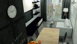 Projekt mieszkania Warszawa -Ochota