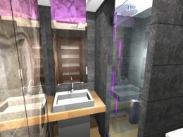 mała łazienka w bloku z w. płyty