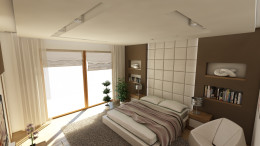 Sypialnia w domu w Warszawie