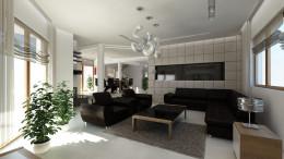 Salon w domu w Warszawie