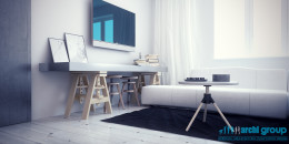 Projekt pokoju dziennego w mieszkaniu