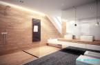 Projekt wnętrz łazienki w domu jednorodzinnym