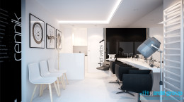 Projekt wnętrz - salon fryzjerski