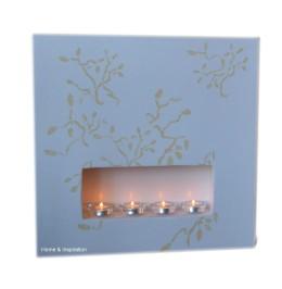 Dekoracja ściany mini kominek