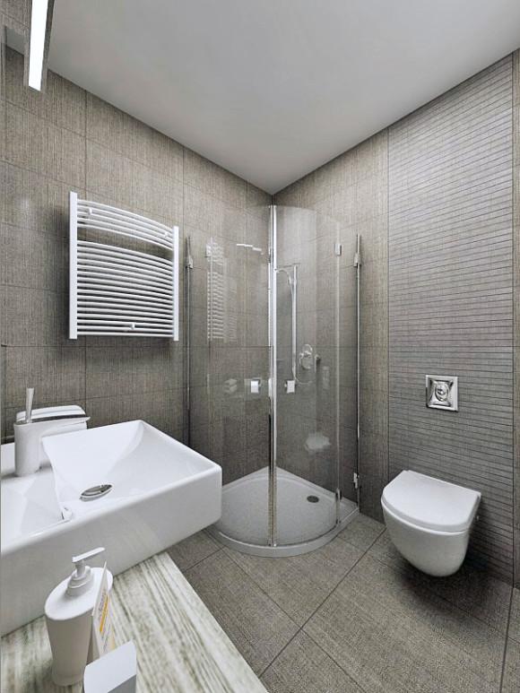 łazienka W Szarości Murla Design Maria Borczuch E