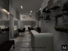Salon Fryzjerski - projekt koncepcyjny III
