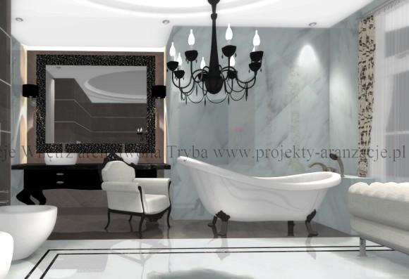 łazienka W Stylu Glamour 7 Wwwprojekty Aranzacjepl