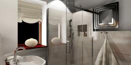 klasyczna sypialnia z łazienką