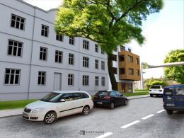 Projekt koncepcyjny budynku mieszkalno-usługowego