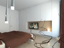 sypialnia z nutą czekolady