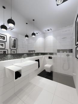 gra w kontrasty - łazienka