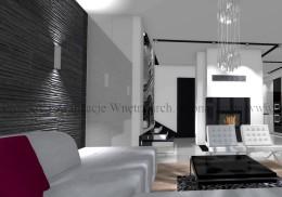 salon w stylu nowoczesnym VI