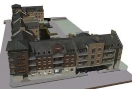 nowy kwartał zabudowy w centrum miasta