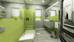 Limonkowa łazienka