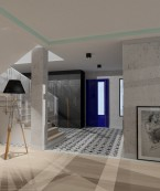 Projekt holu, jadalni, kuchni i pokoju dziennego