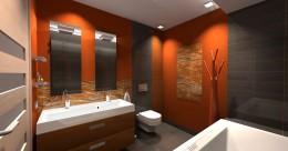 łazienka w pomarańczu