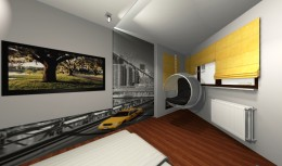 Sypialnia z fotelem Bubble