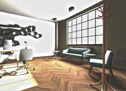 Loftowe biuro w kamienicy