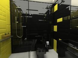 Mała łazienka dla gości, dom jednorodzinny Łódź